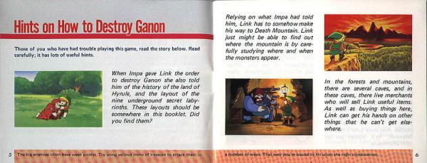 Zelda Game Manual