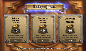 Hearthstone Multiple Quests