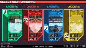 Stardust Vanguards Character Select